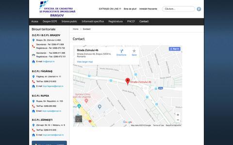 Screenshot of Contact Page hranadealbine.ro - Contact - captured Feb. 26, 2018