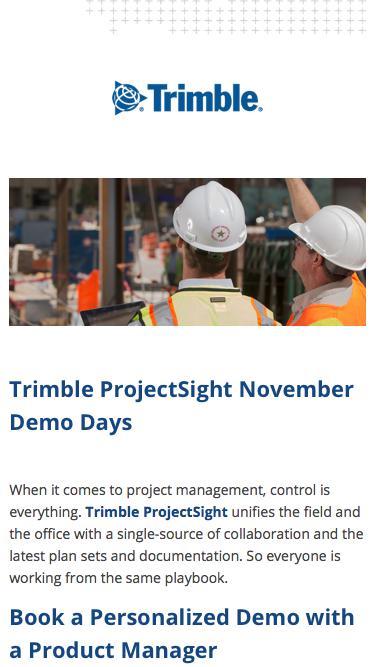Trimble ProjectSight November Demo Days