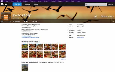 Screenshot of Flickr Page flickr.com - Flickr: eyvan kebap - captured Oct. 22, 2014