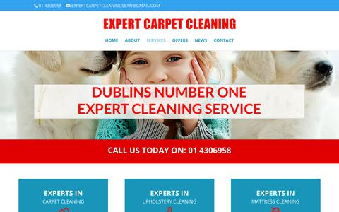 Screenshot of Services Page expertcarpetcleaning.ie - Upholstery Cleaning Dublin, Carpet Cleaning Services, Mattress Cleaning - captured Dec. 10, 2017