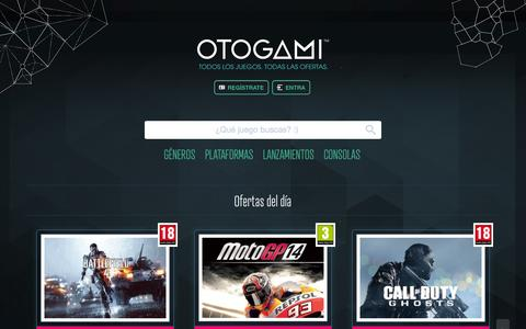 Screenshot of Login Page otogami.com - Entrar en Otogami | Otogami - captured Sept. 17, 2014