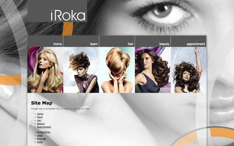 Screenshot of Site Map Page irokasalon.co.uk - iRoka Salon and Spa - Sitemap - captured Oct. 6, 2014