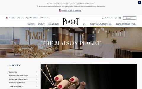 Screenshot of Services Page piaget.com - Customer Service - Piaget Watchmaker and Jeweler - captured June 30, 2018