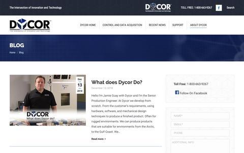 Screenshot of Blog dycor.com - Blog - Dycor - captured Dec. 19, 2018