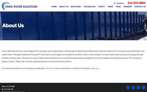 Screenshot of Team Page omniwatersolutions.com - About Us  |  Omni Water Solutions - captured July 3, 2015