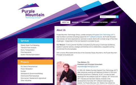 Screenshot of About Page pmtechgroup.com - About Purple Mountain Technology Group - captured Nov. 13, 2016