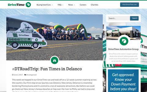 Screenshot of Blog FAQ Page drivetime.com - DriveTime Blog - Official Blog of DriveTime Used Cars - captured June 5, 2017