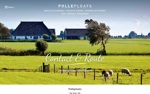 Screenshot of Contact Page pollepleats.nl - Contact informatie de PollepleatsPollepleats - captured May 19, 2017