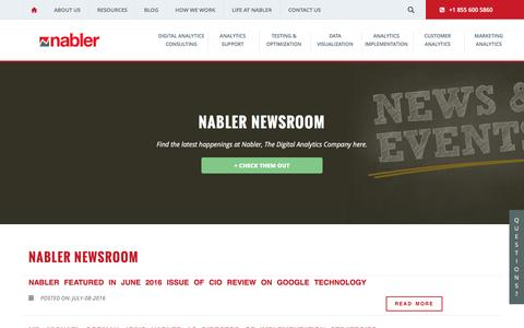 Nabler newsroom features latest updates about the developments at The Digital Analytics Company