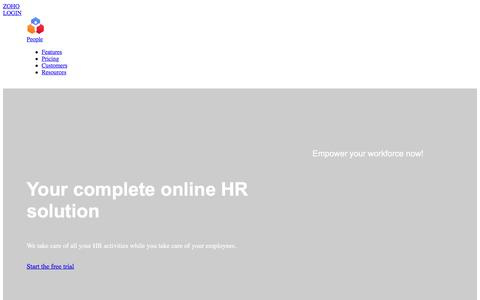 HR Software Solutions | HR System | HRIS - Zoho People