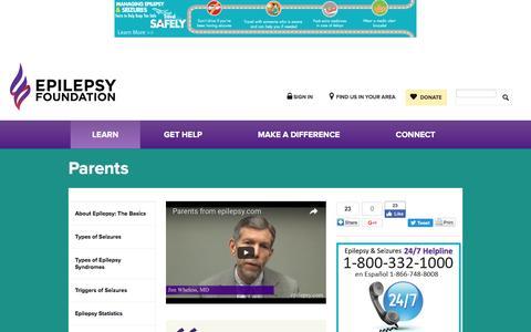 Parents | Epilepsy Foundation