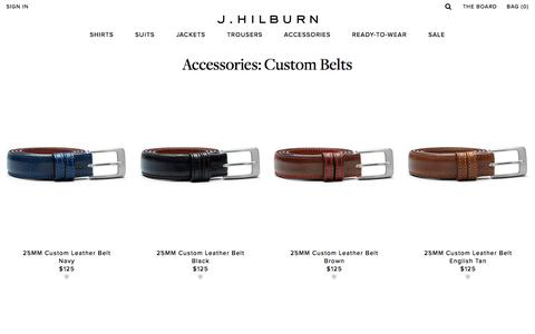 Custom Belts | Accessories | J.Hilburn