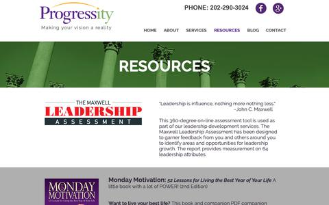 Screenshot of Products Page progressity.com - Resources from Progressity - captured Sept. 30, 2018