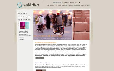 Screenshot of Services Page worldeffect.com - Services - captured Oct. 26, 2014