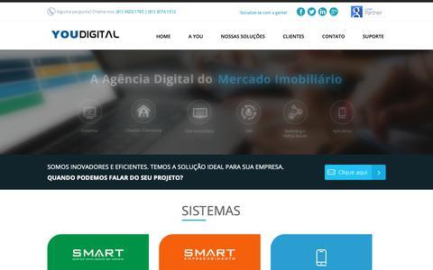 Screenshot of Home Page youdigital.com.br - You Digital - Sites, Softwares e Sistemas Imobiliários - captured Nov. 4, 2018
