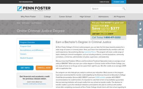 Online Criminal Justice Degree | Penn Foster College
