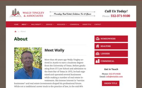 Screenshot of About Page wallytingley.com - About - Wally Tingley & Associates, P.C. | Austin, TX Title Company - captured Nov. 10, 2017