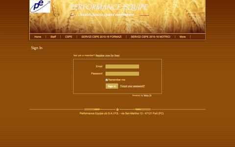 Screenshot of Login Page webs.com - Login - captured Jan. 28, 2017