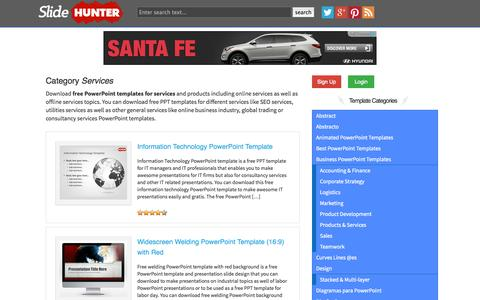 Screenshot of Services Page slidehunter.com - Free Services PowerPoint Templates - captured Oct. 26, 2014