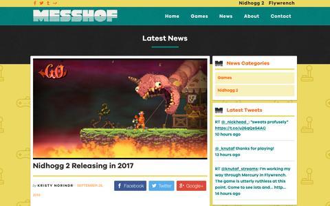 Screenshot of Press Page messhof.com - News - Messhof - captured Nov. 28, 2016