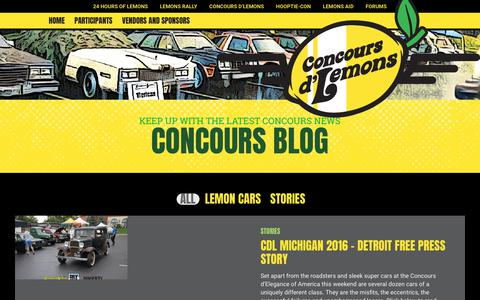 Screenshot of Blog 24hoursoflemons.com - Concours Blog – 24 Hours of LEMONS - captured Jan. 30, 2018