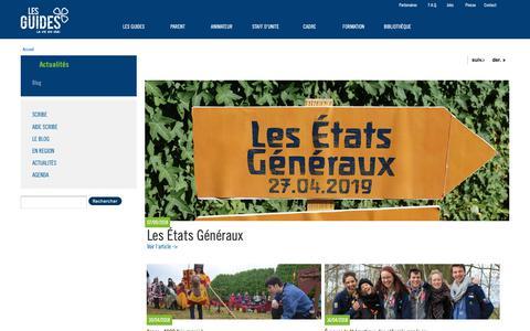 Screenshot of Blog guides.be - Blog des Guides | Les Guides - captured Sept. 30, 2018