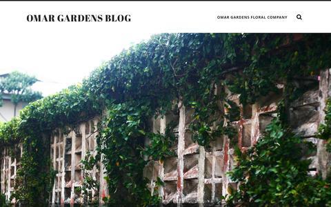 Screenshot of Blog omargardens.com - Omar Gardens Blog - captured Sept. 30, 2014
