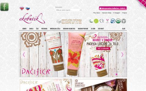 Screenshot of Home Page ekobutik.si - Ekobutik - captured Oct. 6, 2014