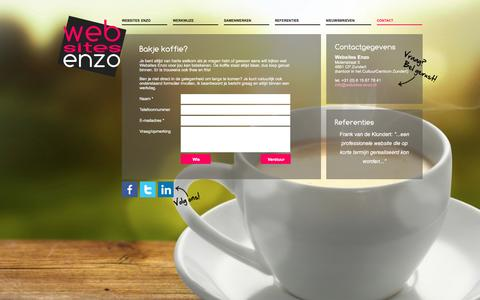 Screenshot of Contact Page websites-enzo.nl - Websites Enzo | Contact - captured April 2, 2016