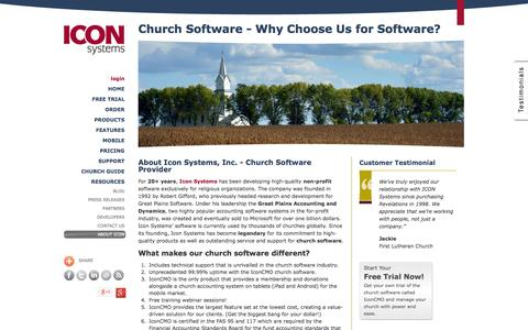 Screenshot of About Page iconcmo.com - Church Management Software | About IconCMO Cloud Based Solution - captured Oct. 10, 2014