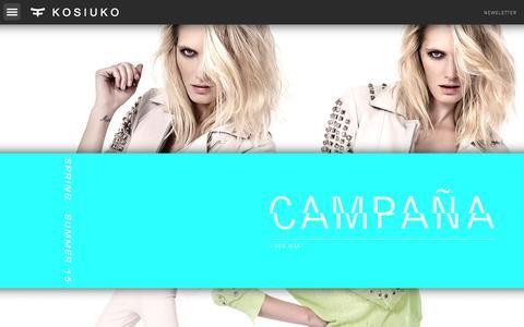 Screenshot of Home Page kosiuko.com - Kosiuko - captured Sept. 30, 2014