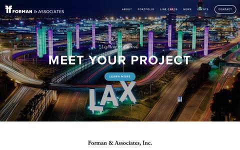 Screenshot of Home Page formanandassociates.com - Forman & Associates - captured Oct. 10, 2018