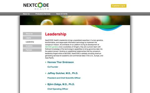 Screenshot of Team Page nextcode.com - NextCODE | Leadership Experts, Architects, Developers - captured Sept. 12, 2014
