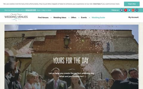 Screenshot of Home Page wedding-venues.co.uk - Wedding Venues - Search for places to get married - captured Nov. 12, 2016