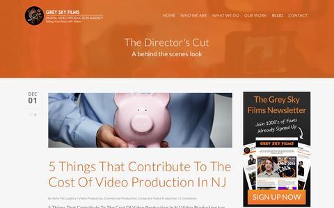 Screenshot of Blog greyskyfilms.com - The Directors Cut - A Video Production Blog - captured Dec. 13, 2015