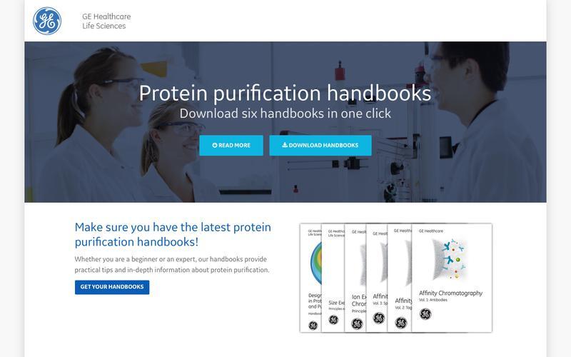 GE Healthcare protein purification handbooks