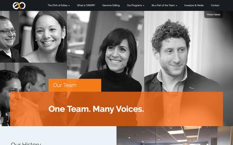 Screenshot of Team Page editasmedicine.com - Our Team - captured Sept. 8, 2016