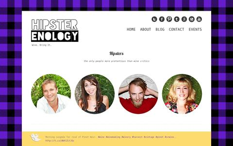 Screenshot of About Page hipsterenology.com - Hipster Enology | About | Hipster Enology - captured Sept. 30, 2014