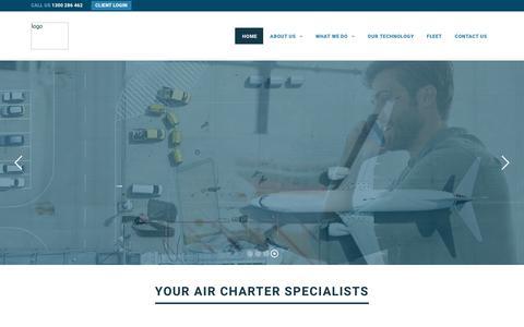 Screenshot of Home Page avmin.com.au - AVMIN – Air Charter Specialists - captured Dec. 17, 2018