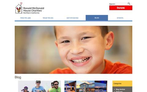 Screenshot of Blog rmhcnc.org - Blog - Ronald McDonald House Charities Northern California - captured June 29, 2018