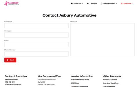 Contact Us | Asbury Automotive Group