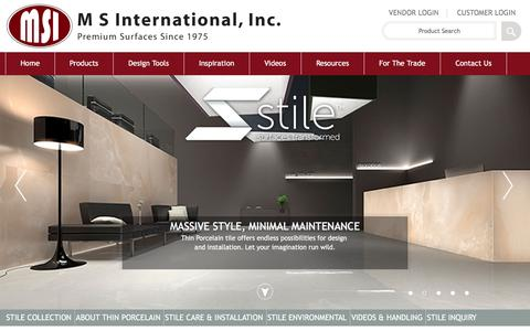 Screenshot of msistone.com - Thin Porcelain Slabs | Stile Thin Porcelain by MSI - captured March 19, 2016