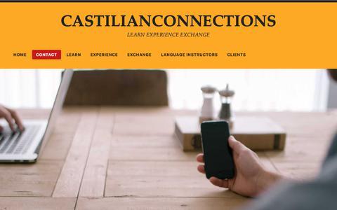 Screenshot of Contact Page wordpress.com - Contact – CASTILIANCONNECTIONS - captured Nov. 4, 2018