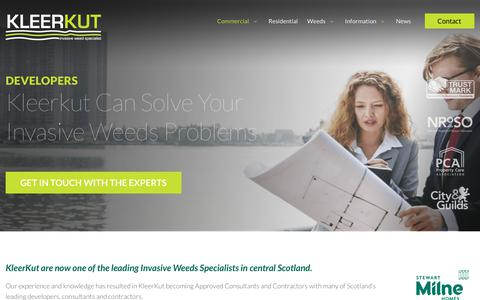 Screenshot of Developers Page kleerkut.co.uk - Developers Are You Looking for Weed Removal Contractors - captured Nov. 15, 2018