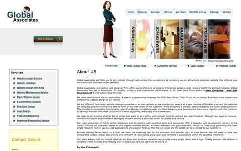 Screenshot of About Page jobs2india.com - Web Design Company India, Website design service, Website redesign service, E-commerce solution service, Flash website design service, Logo design service, Blog design & set up service, - captured Oct. 1, 2014