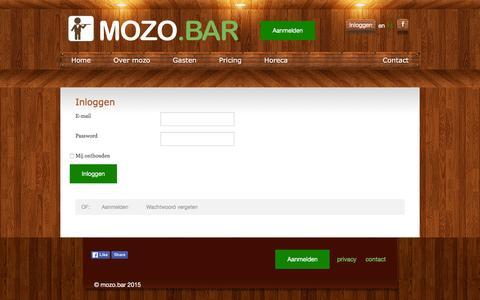 Screenshot of Login Page mozo.bar - mozo.bar - captured March 1, 2016