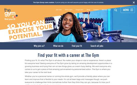Screenshot of Jobs Page thegymgroup.com - Careers - captured Aug. 25, 2019