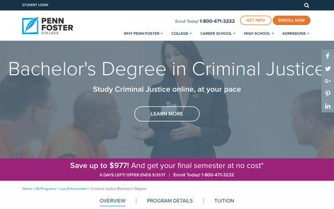 Criminal Justice Degree Online Courses | Penn Foster College