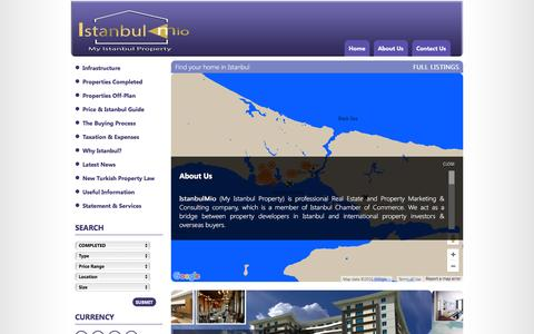 Screenshot of About Page myistanbulproperty.com - IstanbulMio - My Istanbul Property - captured Feb. 11, 2016
