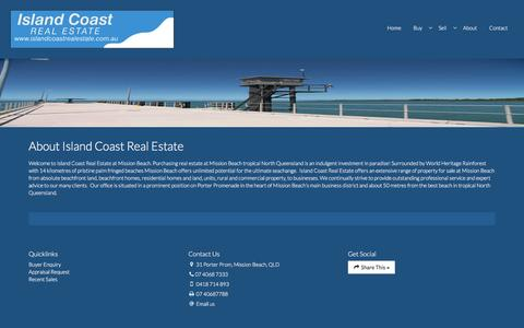 Screenshot of About Page islandcoastrealestate.com.au - Island Coast Real Estate - about island coast real estate - captured April 12, 2017